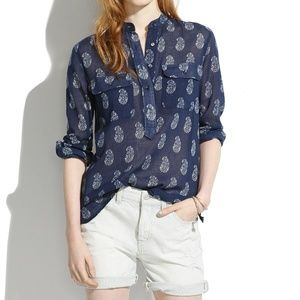 New listing!NWOT MADEWELL teardrop paisley popover